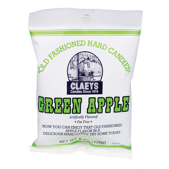 Claeys Hard Candies, Green Apple, 6 oz - Each