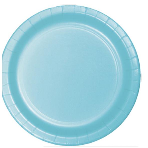 "Solid Color Luncheon Plate, Light Blue, 7"" - 1 Pkg"