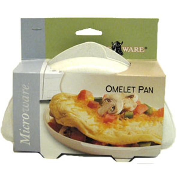 Microwave Omelet Pan, White - 1 Pkg
