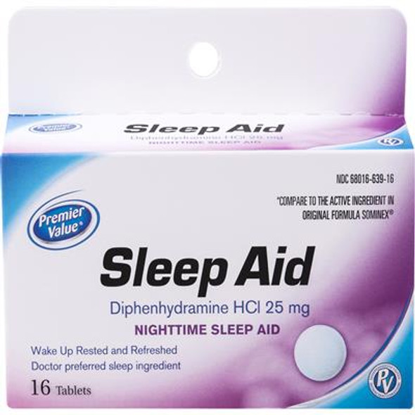 Premier Value Sleep Aid Tabs - 16ct