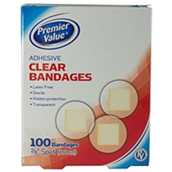 Premier Value Clear Plastic Bandage Spots - 100ct