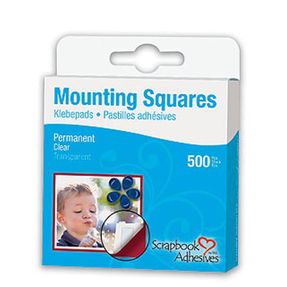Mounting Squares, Adhesive - 1 Pkg