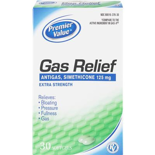 Premier Value Gas Relief Extra Strength Softgel - 30ct