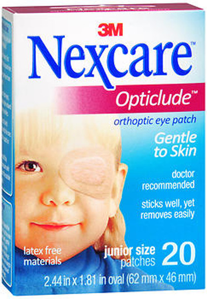 Nexcare Opticlude Orthoptic Eye Patches Junior Size - 20 ct