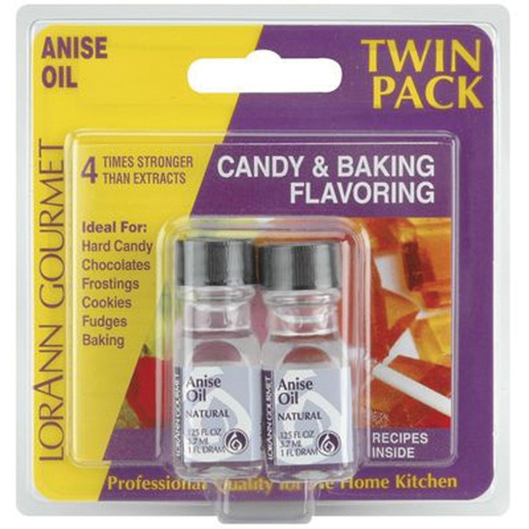 Twin Pack Flavoring Oils, Candy/Baking, Anise, 2X.125 - 1 Pkg