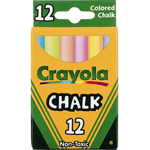 Chalk 12Ct, Assorted, 12Ct - 1 Pkg