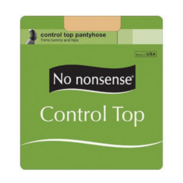 Control Top Panty Hose, Black, B - 1 Pkg