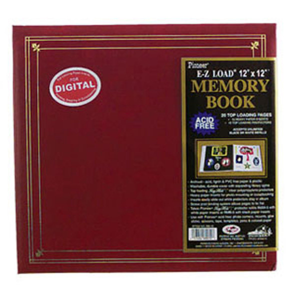 "Memory Album, Scrapbook, Solid, 12X12"" - 1 Pkg"