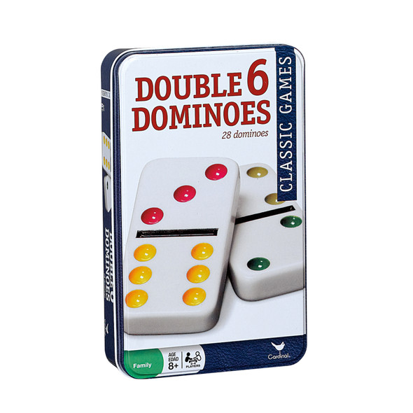 Color Dot Double 6 Dominoes In A Tin - 1 Pkg