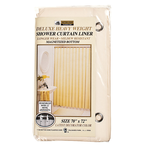 "Deluxe Vinyl Shower Curtain Beige, 70""X72"" - 1 Pkg"