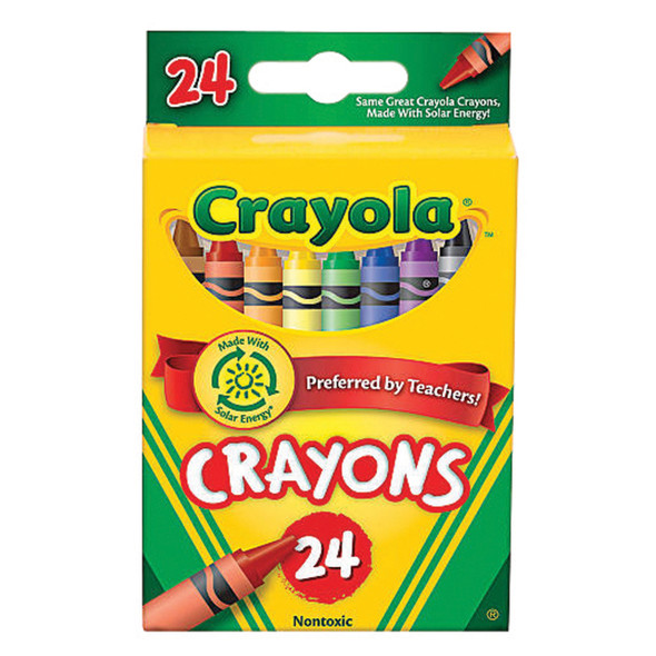 Crayola Crayons, Assorted, 24Ct. - 1 Pkg