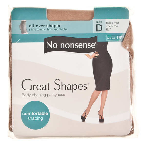 Great Shapes All Over Shaper Panty Hose, Beige Mist, D - 1 Pkg