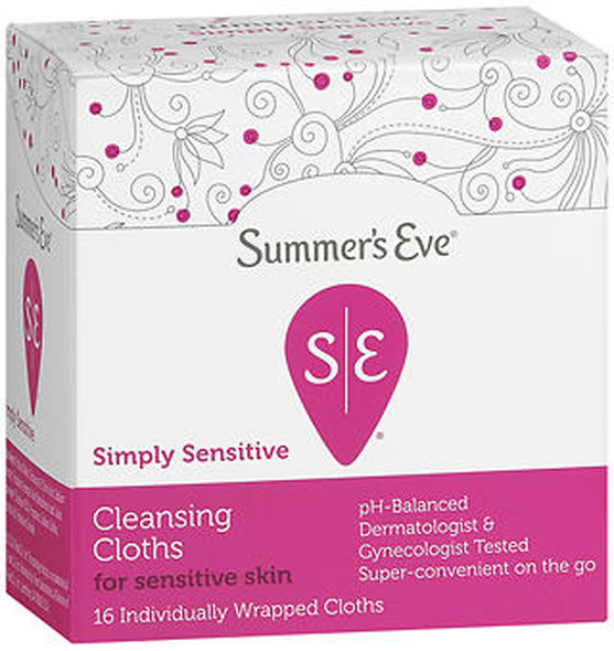 Summer's Eve Feminine Cleansing Cloths, Sensitive Skin - 16 ea.
