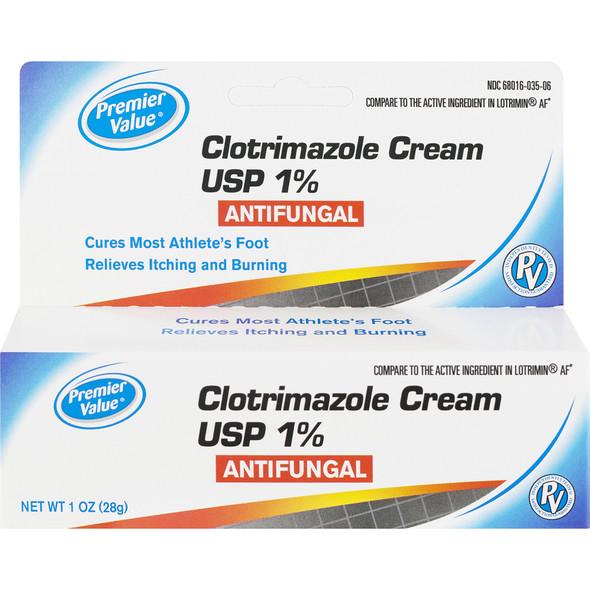 Premier Value Clotrimazole AF Cream - 1oz