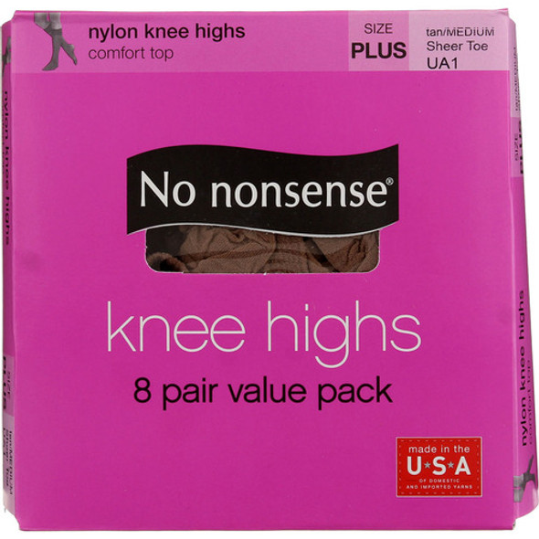 No Nonsense Knee Highs, Tan, Queen - 1 box