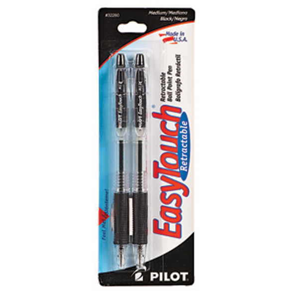 Easy Touch Ballpoint Pen Retractable, Black, Medium - 1 Pkg