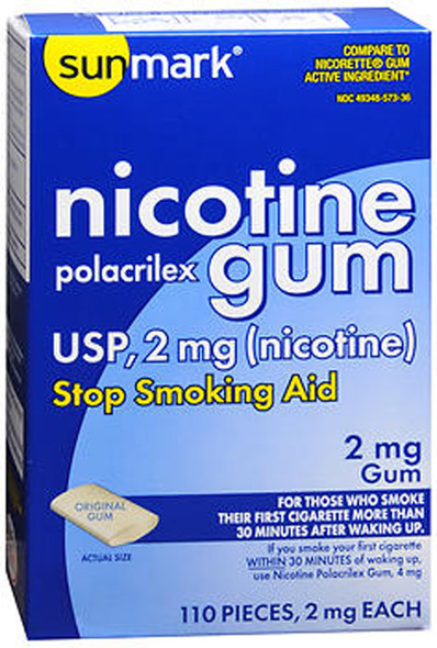 Sunmark Nicotine Polacrilex Gum 2 mg Original Flavor - 110 ct