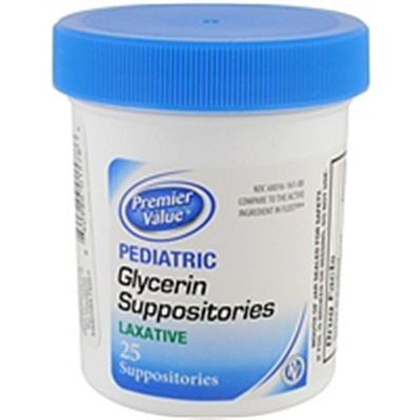 Premier Value Glycerin Suppos Pediatric - 25 ct