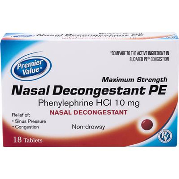 Premier Value Nasal Decon. 10Mg (Non Pseudo) - 18ct