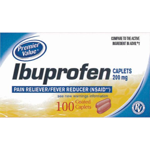 Premier Value Ibuprofen Caplets Brown - 100ct