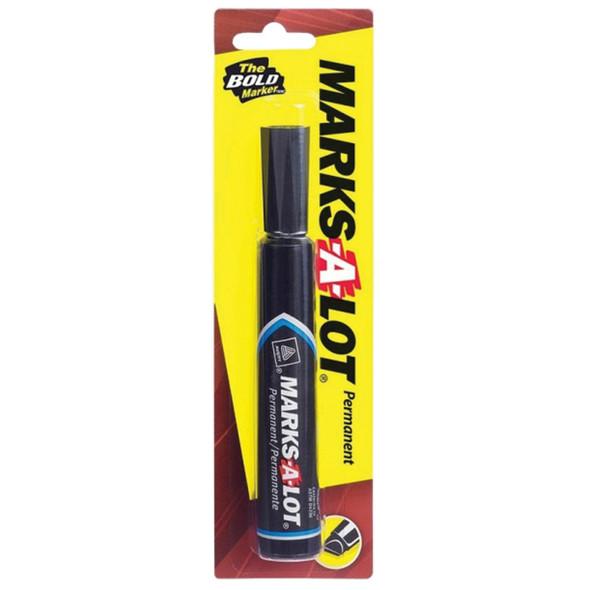 Marks-A-Lot Marker, Black - 1 Pkg