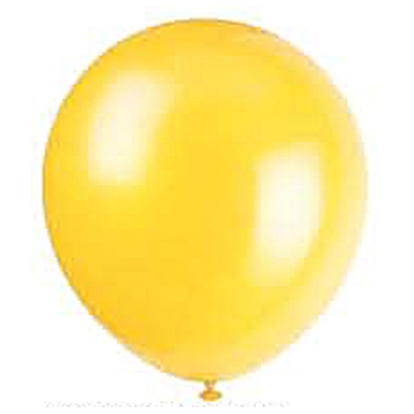 "Balloon, Sunburst Yellow, 9"" - 1 Pkg"