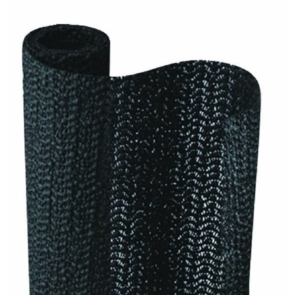 "Grip-It Shelf Liner, Black, 12""X5' - 1 Roll"