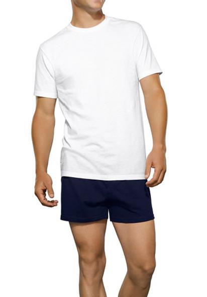 Men's White Crew Neck T-Shirts 3-Pack, White, 2Xl - 1 Pkg