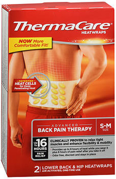 ThermaCare HeatWraps Lower Back & Hip Size S-M - 2 ct
