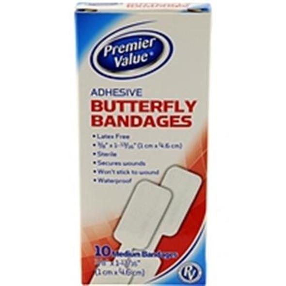 Premier Value Butterfly Bandage Medium - 10ct