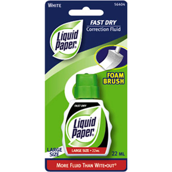 Liquid Paper Correction Fluid, White, .74oz - 1 Pkg