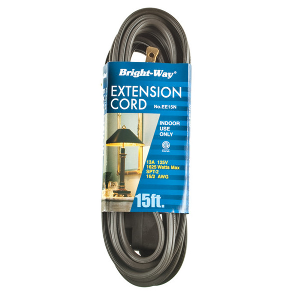 Extension Cord 15', Brown - 1 Pkg