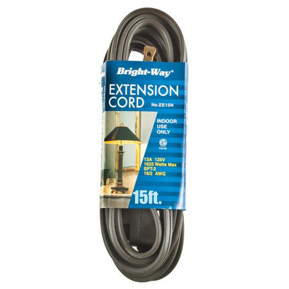 Extension Cord 15', Brown - 1 Pkg