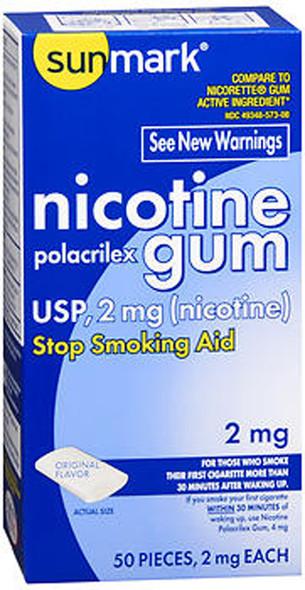 Sunmark Nicotine Polacrilex Gum 2 mg Original Flavor - 50 ct