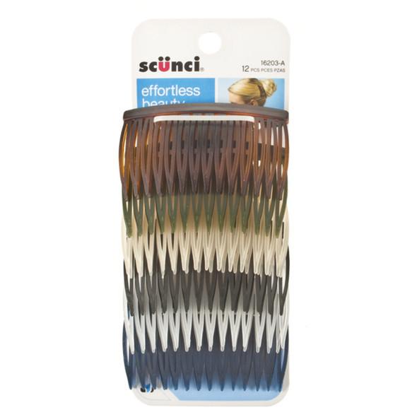 Side Combs-Assorted, Asst, 12Ct - 1 Pkg