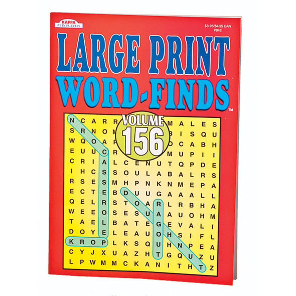 Large Print Word Find Books, 96 page