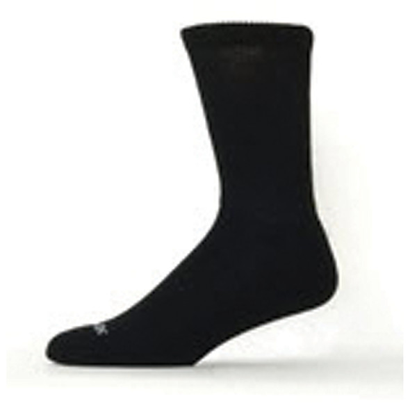 Diabetic Bamboo Crew Sock, Black - 1 Pkg
