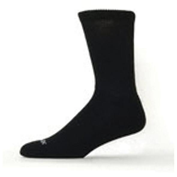 Diabetic Bamboo Crew Sock, Black - 1 Pkg