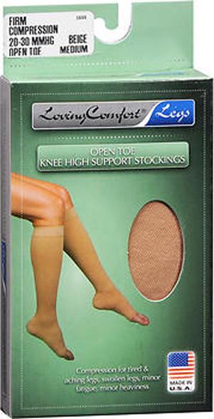 Loving Comfort Knee-High Compression Hose - Beige - Medium