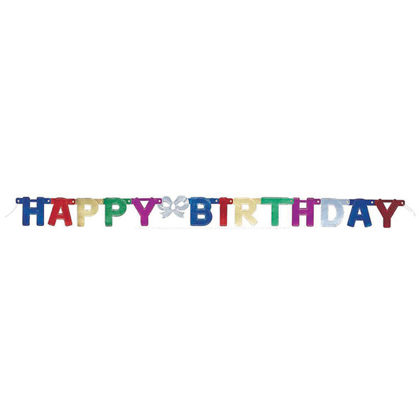 "Deluxe Happy Birthday Banner Decoration, 4.5"" - 1 Pkg"
