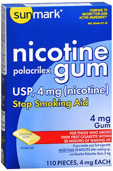 Sunmark Nicotine Polacrilex Gum 4 mg Original - 110 ct