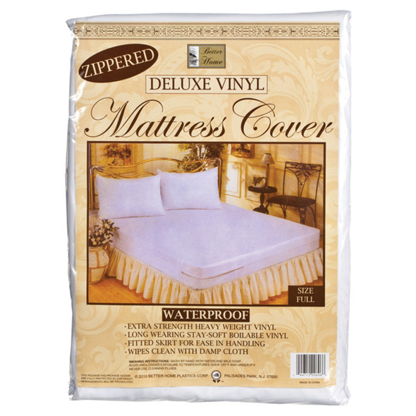 Vinyl Mattress Cover - Zippered Full, Vinyl, Full - 1 Pkg