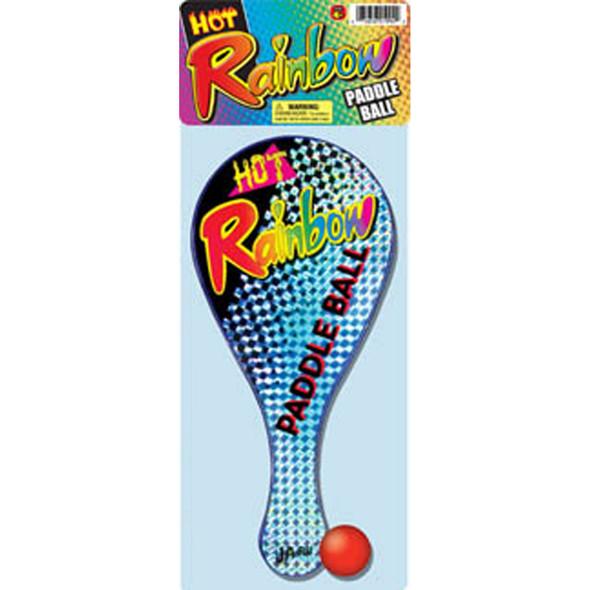 Rainbow Paddle Ball - 1 Pkg