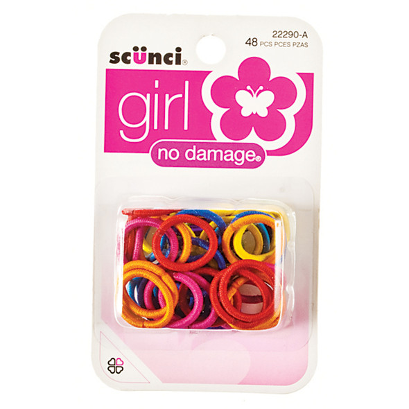 Hair Elastics-Mini-No Damage, Asst, 48 Ct - 1 Pkg