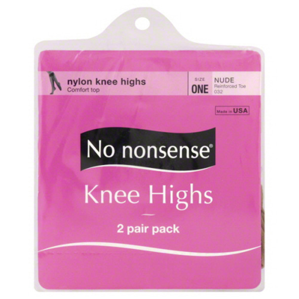 Knee High's Hose, Nude, One Size - 1 Pkg