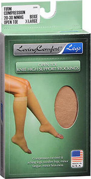 Loving Comfort Knee-High Compression Hose - Beige - Extra Large