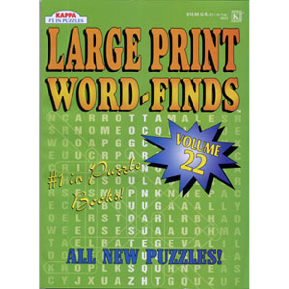 Large Print Word Find Jumbo, 160 Page - 1 Pkg