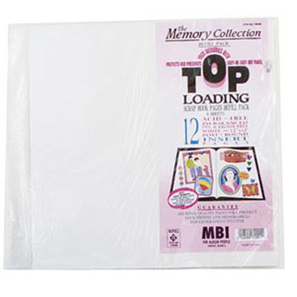 """Scrapbook Refill Sheets, Topload, 12""""X12"""" - 1 Pkg"""