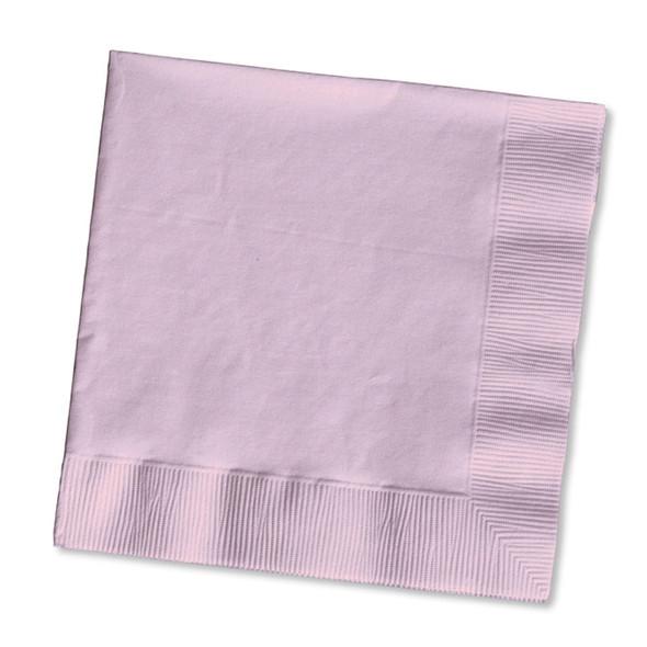 Solid Color Beverage Napkin, Classic Pink, 50 Ct - 1 Pkg