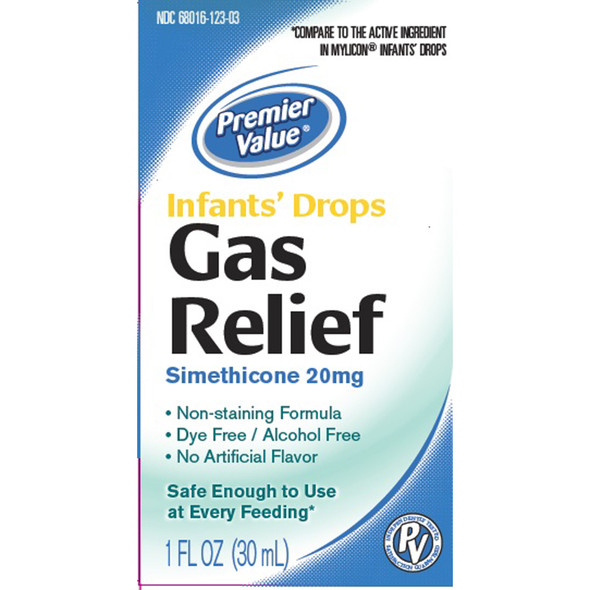 Premier Value Gas Relief Infant Nonstain - 1oz